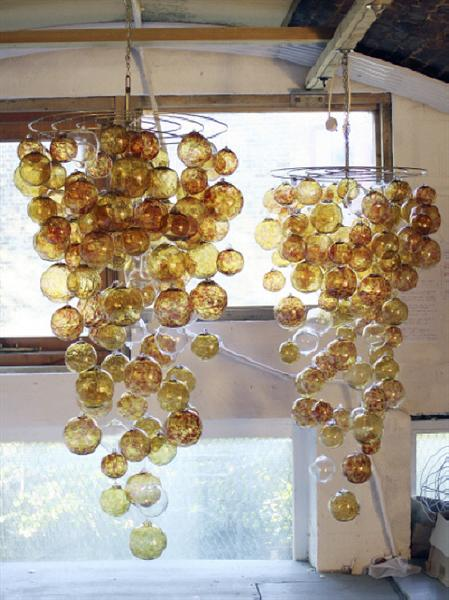 Glass Ball Chandelier (Medium)
